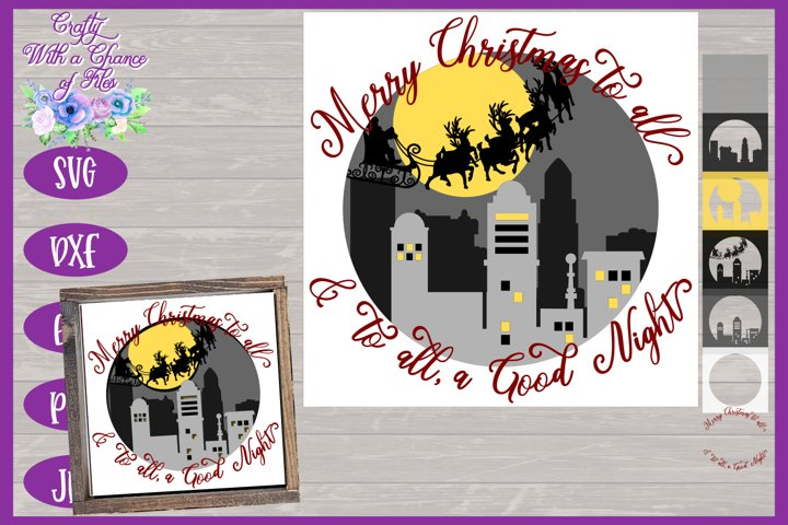 3D Christmas SVG Merry Christmas To All Layered Paper Cut
