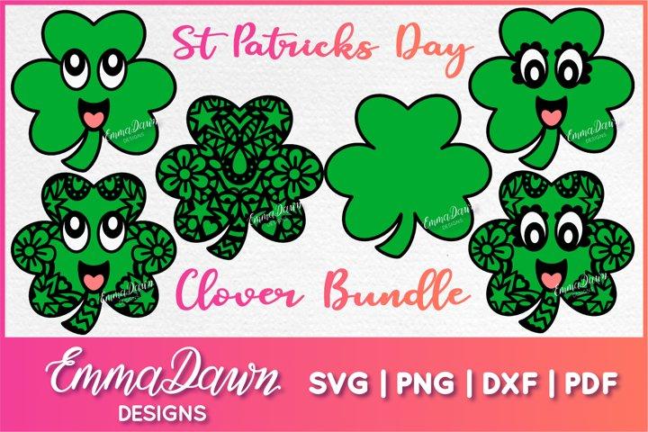 St PATRICKS DAY CLOVER SVG BUNDLE 6 DESIGNS