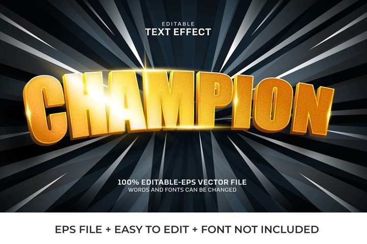 Champion Vector Text Effect
