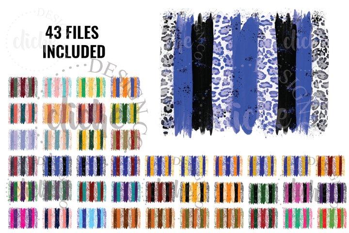 Paint Stroke Sublimation Design Background Bundle