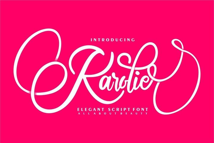 Karolie | Elegant Script Font