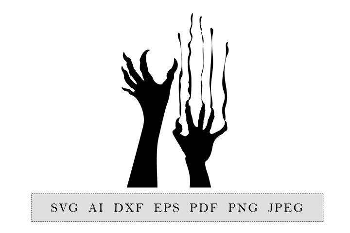 Zombie hands Silhouette Halloween Party decoration