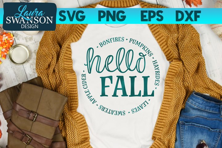 Hello Fall SVG Cut File