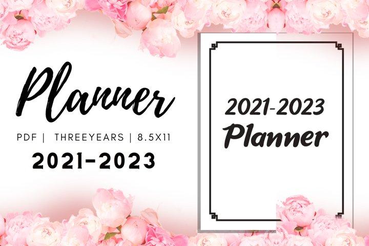 2021 2023 Three Years Monthly Planner | KDP Interior | PDF