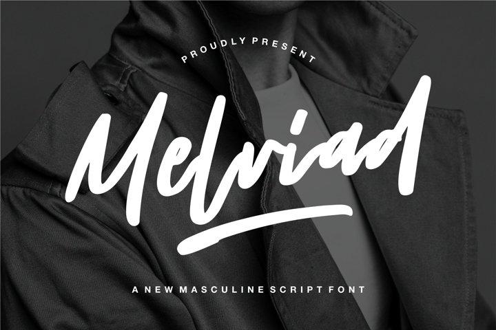Melviad - A New Masculine Script