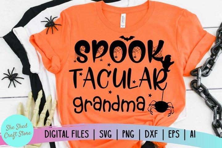 Spook Tacular Grandma SVG, Halloween SVG, Spooky SVG