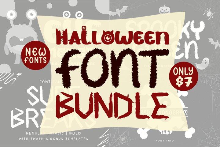 Halloween Font Bundle - Bonus Monogram & Swash