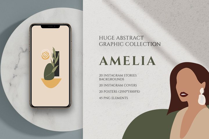 AMELIA - Huge Abstract Graphic Collection
