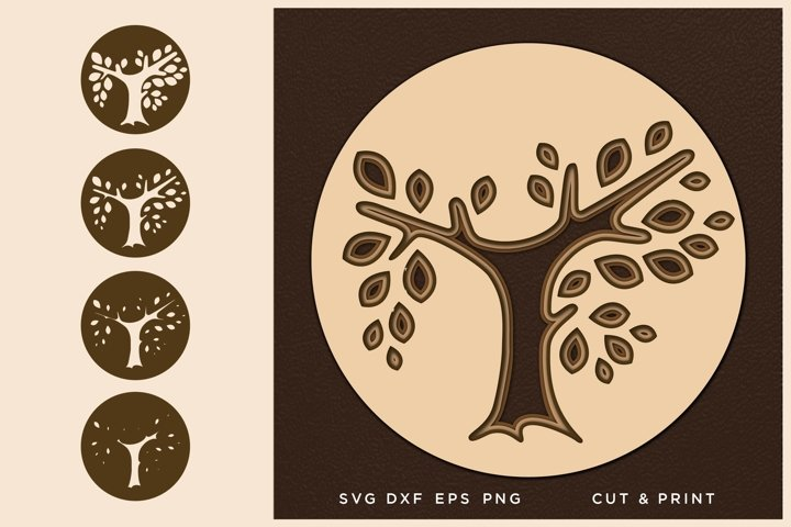 Tree of Life svg, Cut file, Multilayer svg, Layered svg