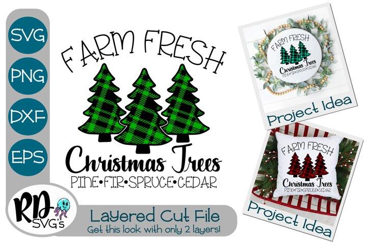 Christmas Tree Farm- A Plaid Layered SVG Cricut Cut File