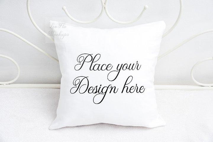 White square pillow mock up psd mockup cushion sublimation