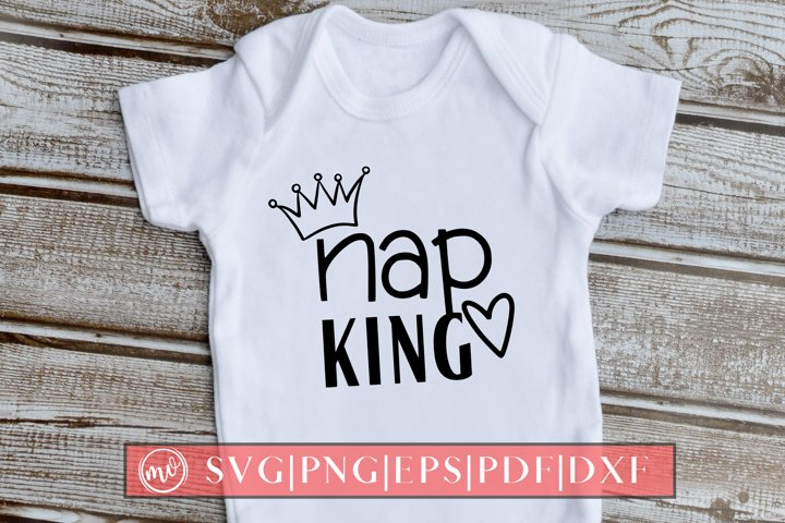 Nap King Baby Quote SVG Design