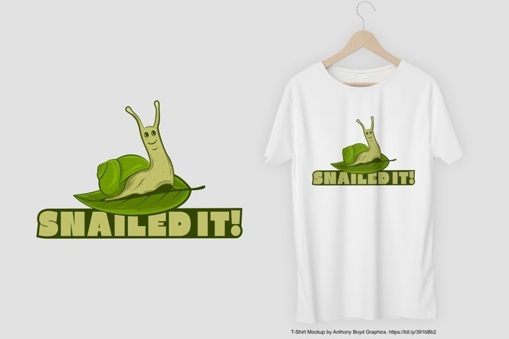 Snailed It T-Shirt Design