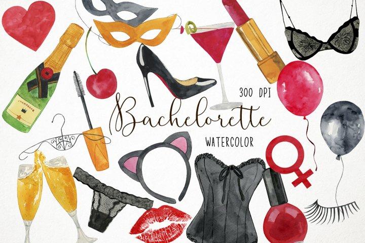 Watercolor Bachelorette Clipart, Bachelorette Clip Art
