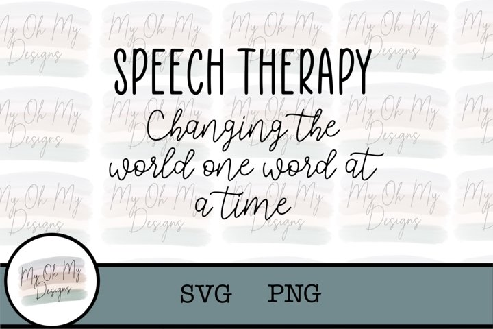Speech Therapy changing the world one word at a time