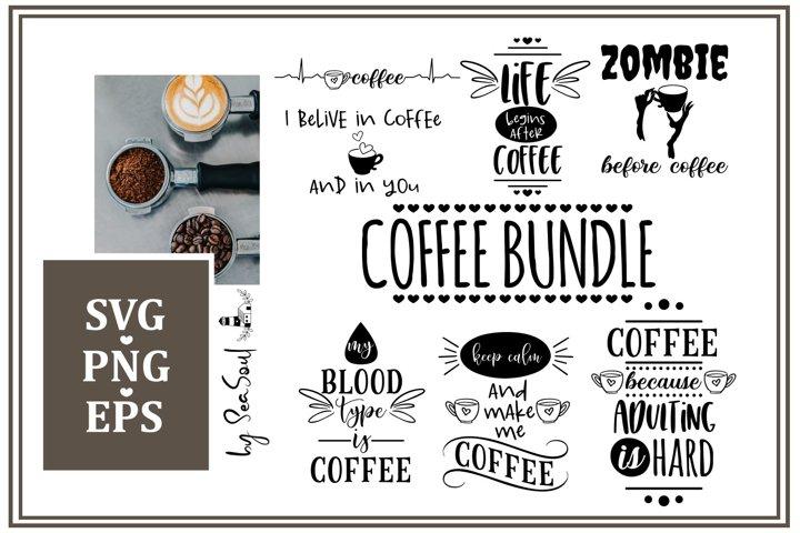 Coffee bundle. SVG, EPS, PNG, JPEG