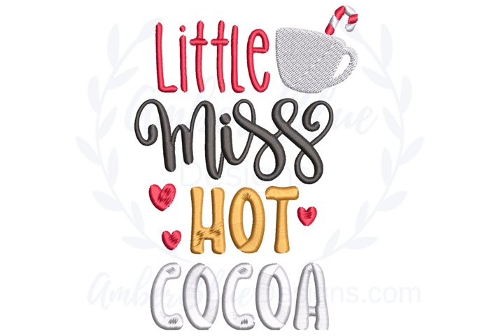 Little Miss Hot Cocoa Embroidery File