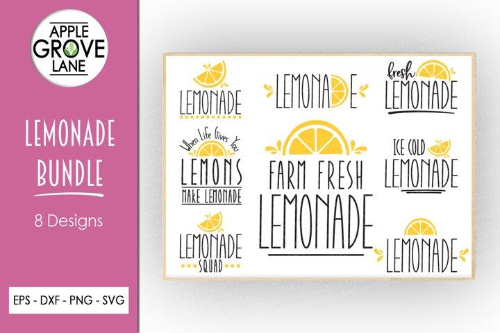 Lemonade Svg Bundle - 8 Designs - Summer Svg Cut Files
