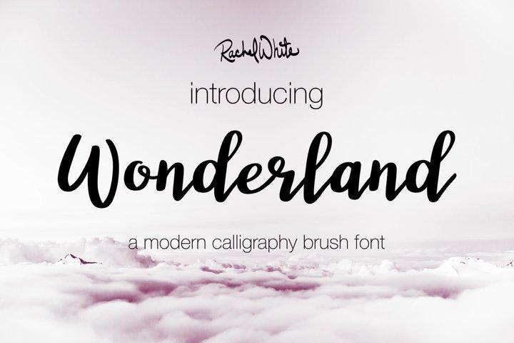 Wonderland, a modern calligraphy font - Free Font of The Week Design0