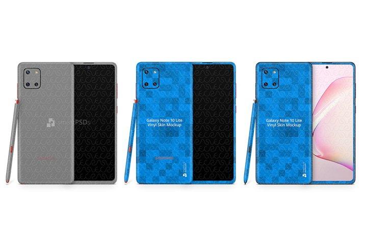 Galaxy Note 10 Lite 2020 PSD Skin Mockup Template