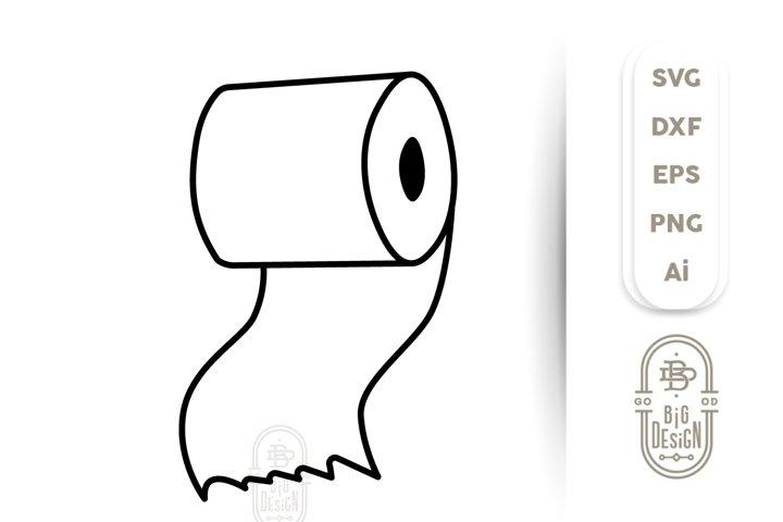 Toilet Paper SVG - Toilet Paper Roll Clipart- Quarantine SVG