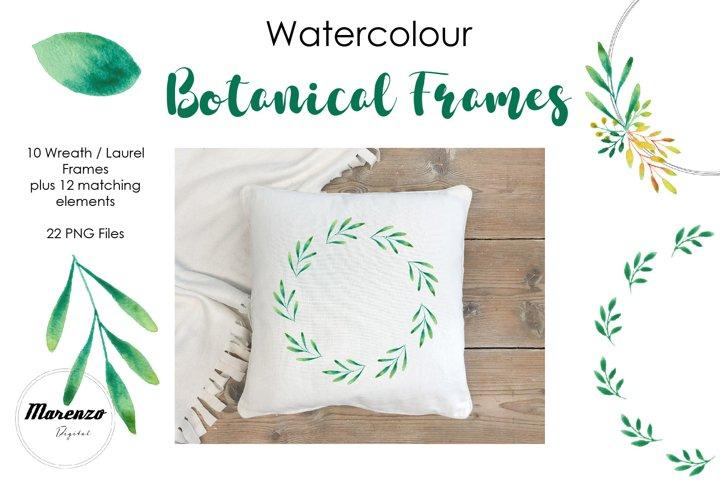 Watercolour Botanical Frames / Wreaths / Laurels