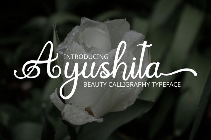 Ayushita beauty calligrapy