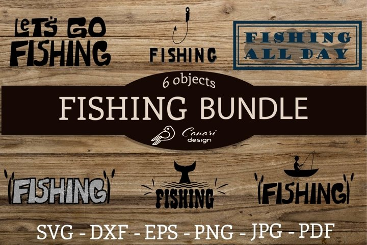 Lettering prints Fishing topic