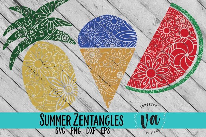 Summer Zentangle SVGs