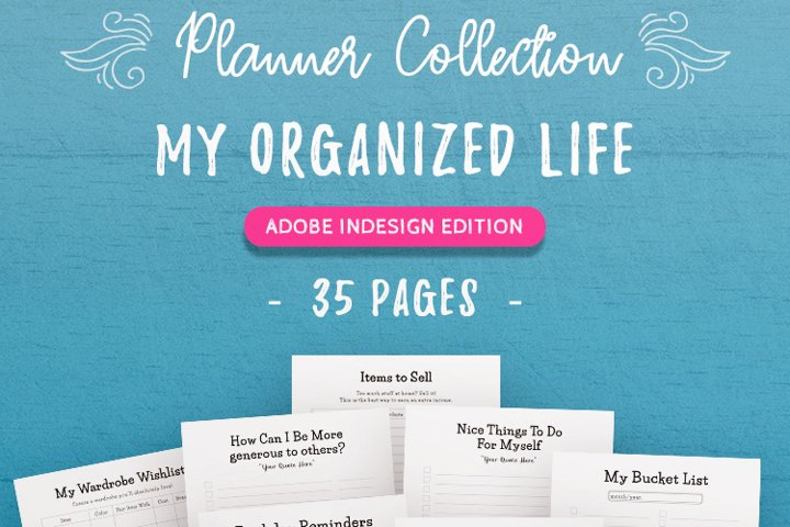 My Organized Life InDesign Template Collection