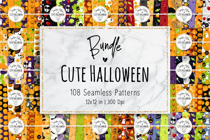 Cute Halloween Patterns Bundle