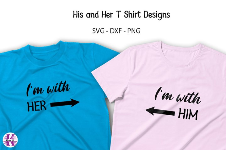 His & Her T shirt Designs SVG