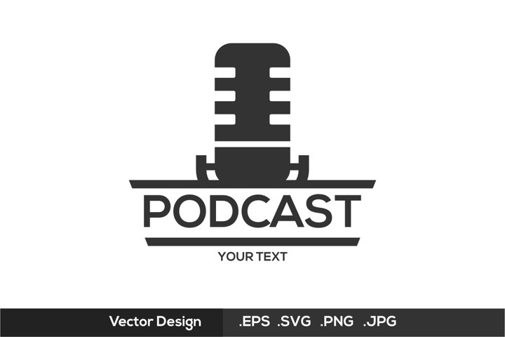 Podcast Logo - Black