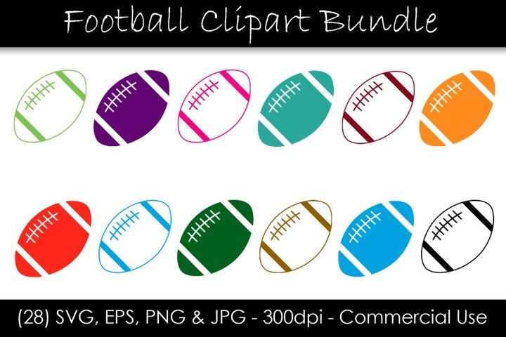 Football SVG Bundle - Multi-Color Football Clip Art