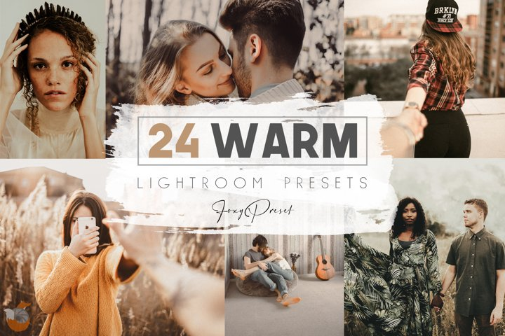 24 Warm Mobile & Desktop Lightroom Presets