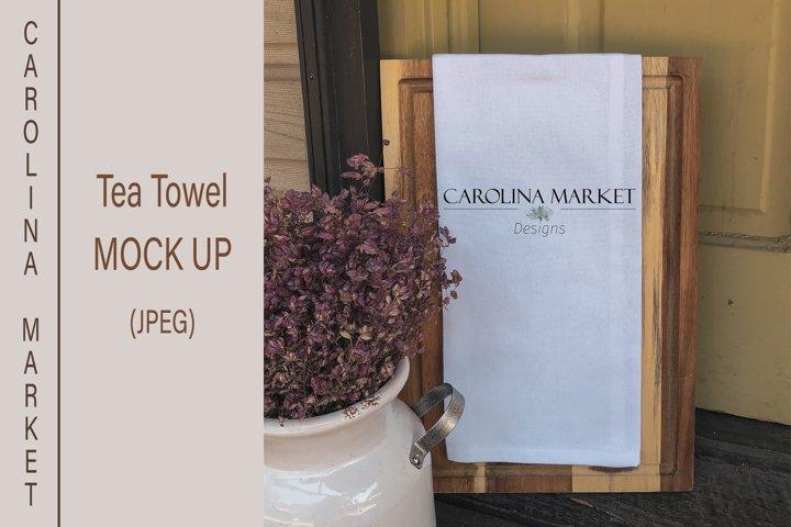 Tea Towel Mockup | Kitchen Towel Mockup | Flat Lay | JPEG