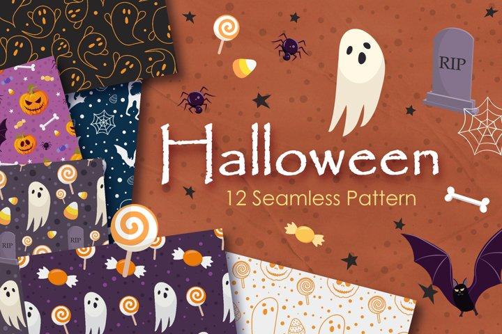 Halloween Funny Seamless Pattern