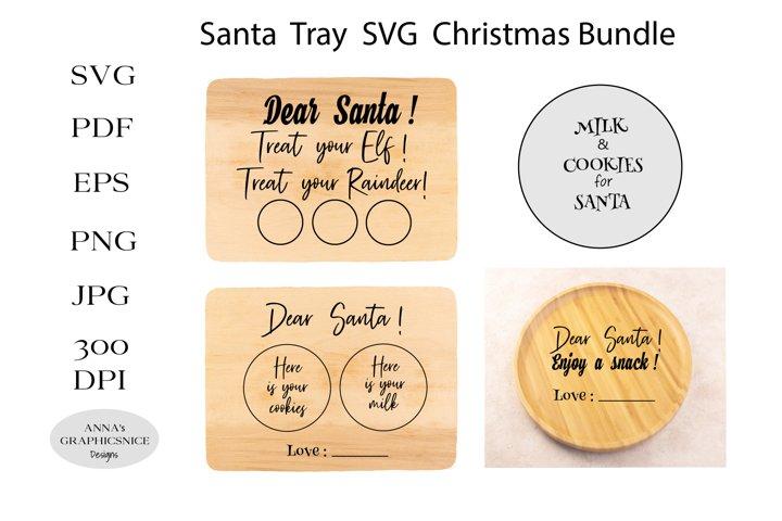 Santa Tray SVG Cut Files. Santa plate SVG Christmas Bundle