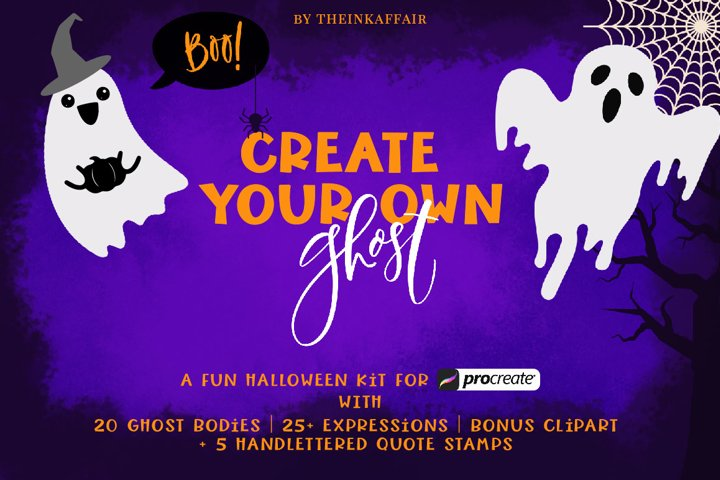Halloween Ghost Creator Kit for Procreate