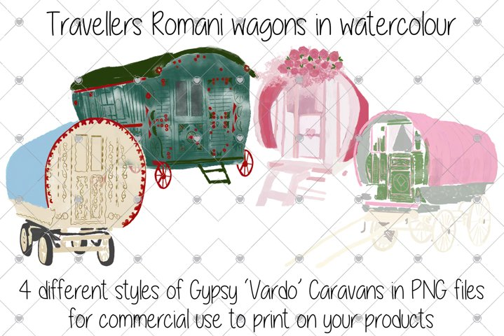 Travellers Clipart, Romani Clipart, Wagons Clipart,