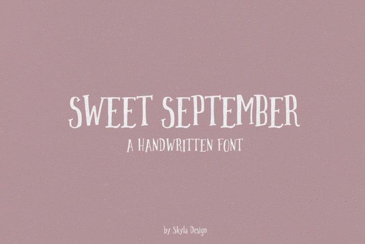 Handwritten font - Sweet September
