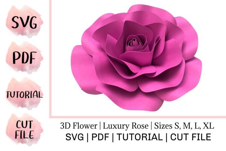 3D Paper Flower| Luxury Rose | Sizes S, M, L, XL
