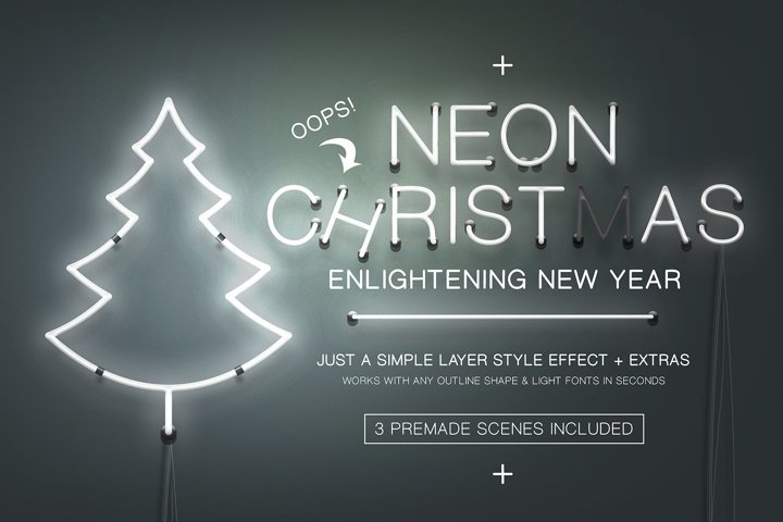 Neon Christmas Layer Style