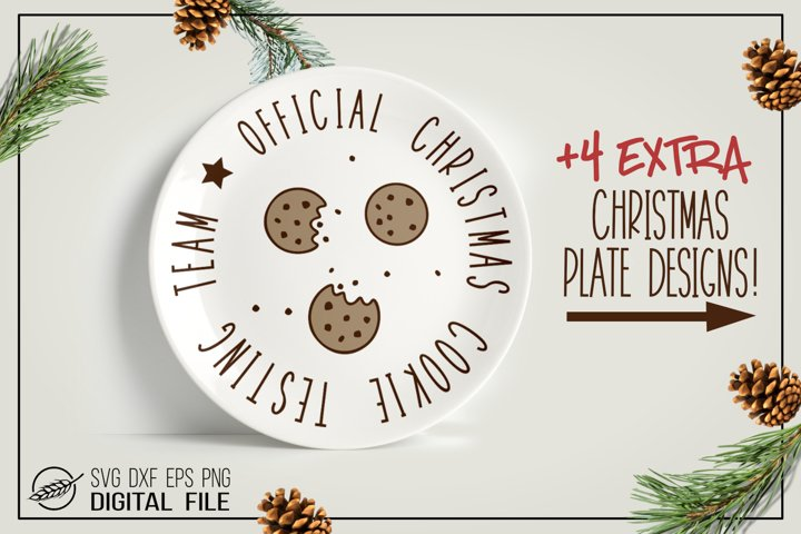 Christmas cookies plate designs, cut files