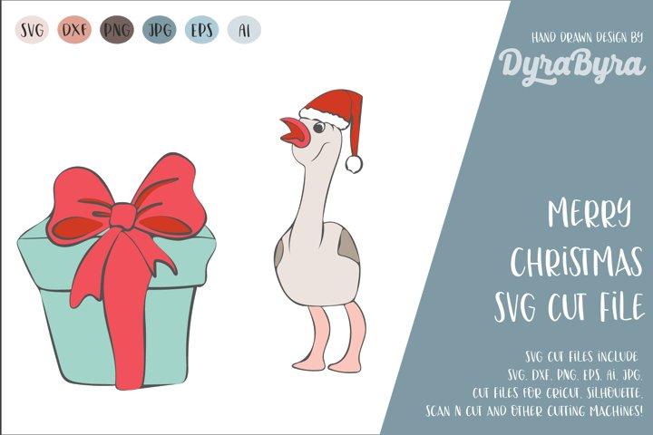 Merry Christmas SVG / Flamingo SVG / Christmas gift Cut File