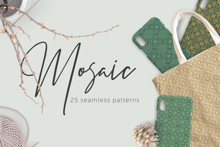 Mosaic | 25 seamless patterns