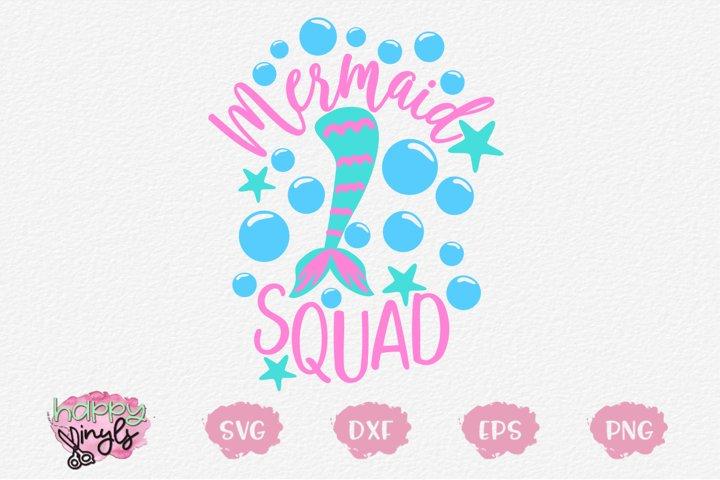 Mermaid Squad - A Mermaid SVG
