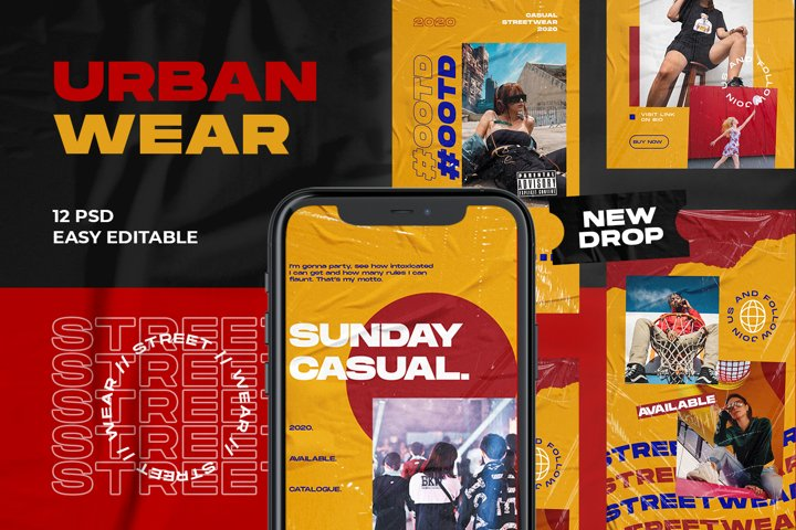 Urban Wear Instagram Template
