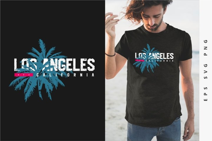 Los Angeles California T shirt Design,Eps Svg Png