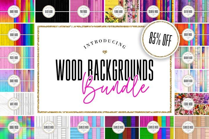 Digital Paper BUNDLE - 212 Wood Backgrounds